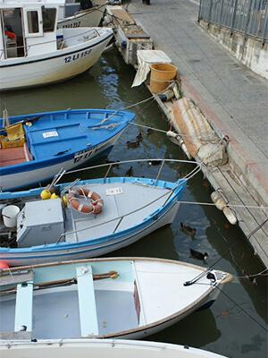 Boats in the Castiglione della Pescaia harbor